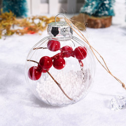 Christmas 2019 Home Decorations Cherry Decoration Ball DIY Christmas Tree Hangings Deco Noel Bois Kerst Natale Dropshipping # 2