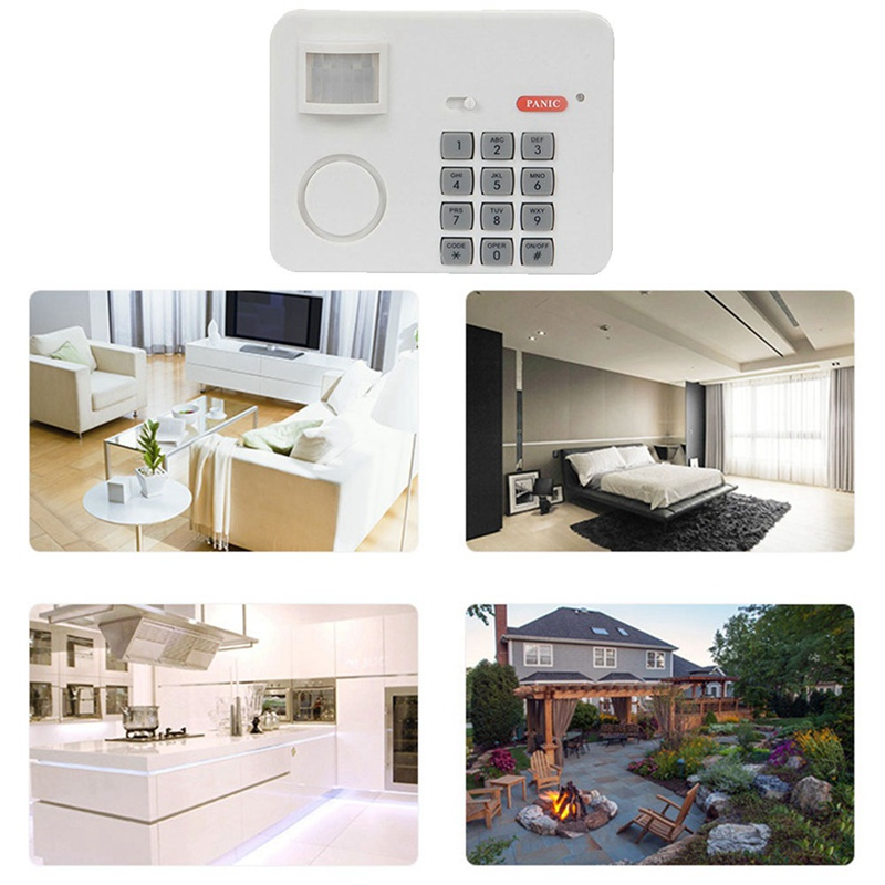 IR Infrared Motion Sensor Detector Wireless Remote Controlled Mini Alarm 4.5V 100dB Loud Siren For Home Security Anti-Theft