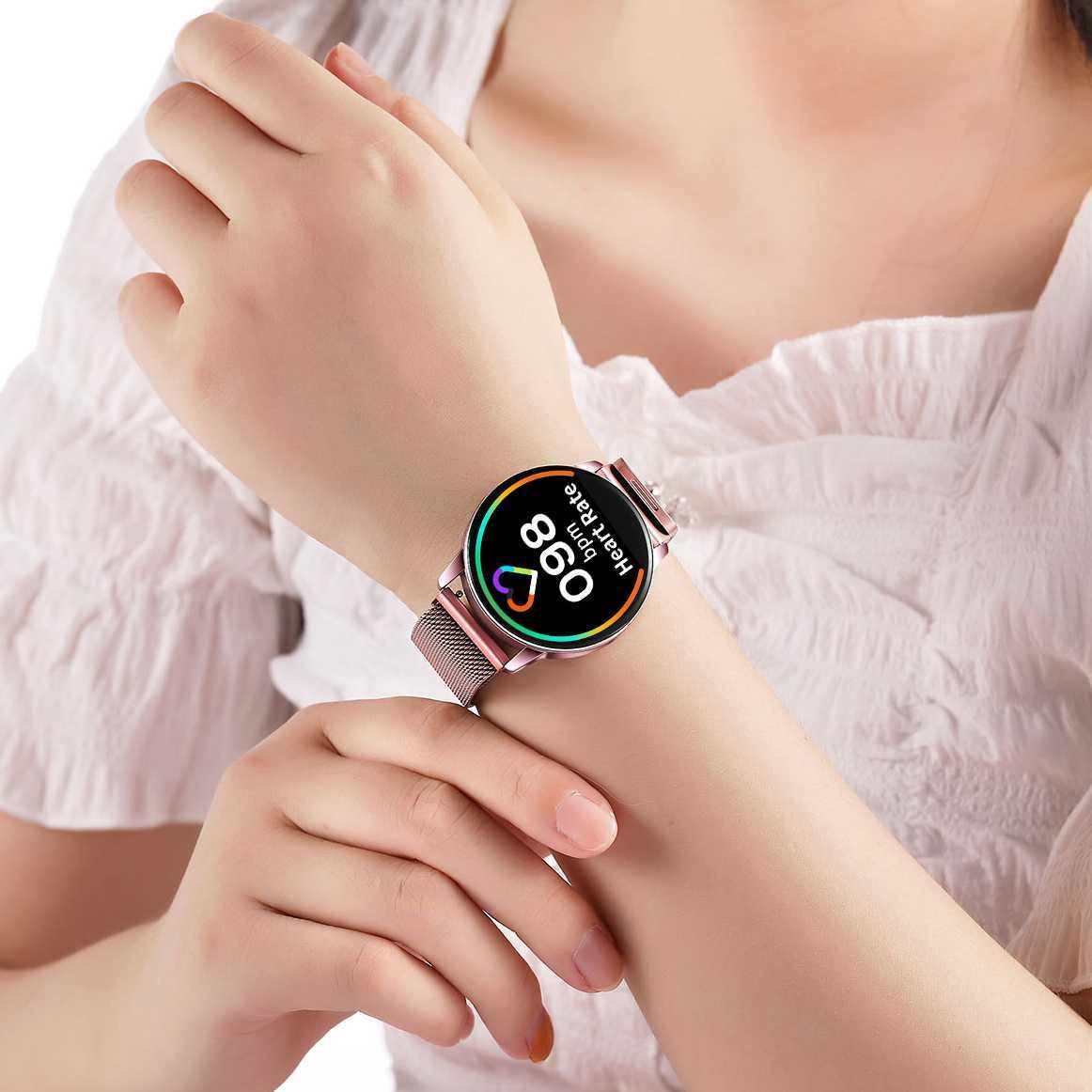 ل Q20 Q9 Q8 سوار ذكي معصمه الأصلي Newwear ساعة ذكية استبدال الفولاذ المقاوم للصدأ حزام الساعات شريط للرسغ الرجال النساء