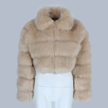 Furyourself 2021 Luxury Autumn Winter Jacket Women Faux Fox Fur Coat Fluffy Thick Warm Short Outerwear Streetwear Brand Zipper