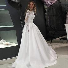 Eightree vestido de noiva manga longa Новое поступление свадебные