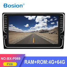 Bosion PX6 RK3399 4G+64G 9/10 inch 1 DIN universal Android 10.0 Car Audio GPS Radio Video Player BT Head unit Wifi SWC DSP IPS