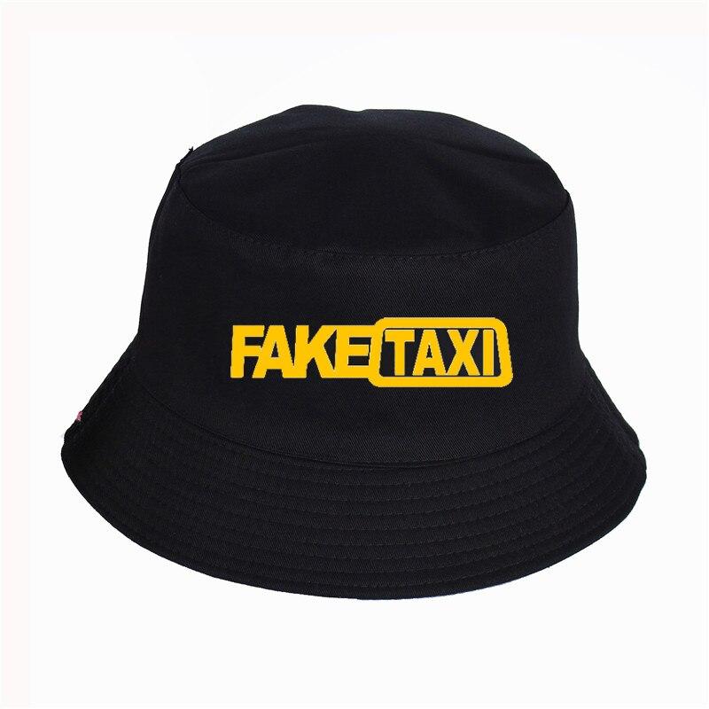 Fake Taxi Printed Bucket Hats Summer High Quality Fisherman's HatWomen Men Fisherman Hat Outdoor Sunshade Cap Fishing Hat