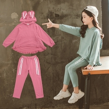 New Arrive Children Clothing Sets Costumes For Kids Sport Suits Hoodies+Pants Tracksuit Cute Cartoon Baby Girls Clothes