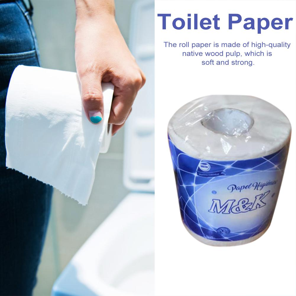 4 Rolls Toilet Paper 3-Ply Toilet Paper Soft Non-irritating Tissue Paper Degradable Roll Paper Toilet Roll Paper For Household