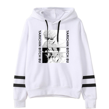 Yarichin Bitch Club Hoodie Unisex Pocketless Sleeve Women Men's Sweatshirt Harajuku Streetwear Japanese Anime Clothes Plus Size