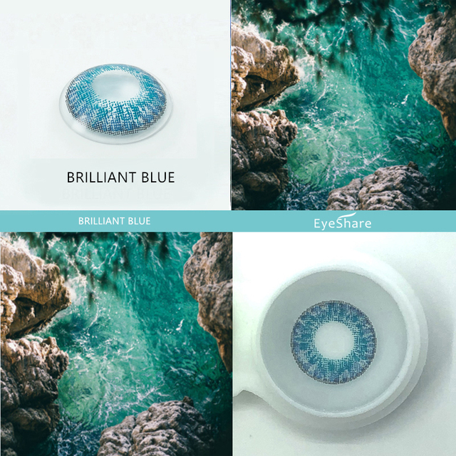 EYESHARE- 2pcs 3 Tone Brilliant Color Series Colored Contact Lenses  for Eyes Colored Eye Lenses Color Contacts 2