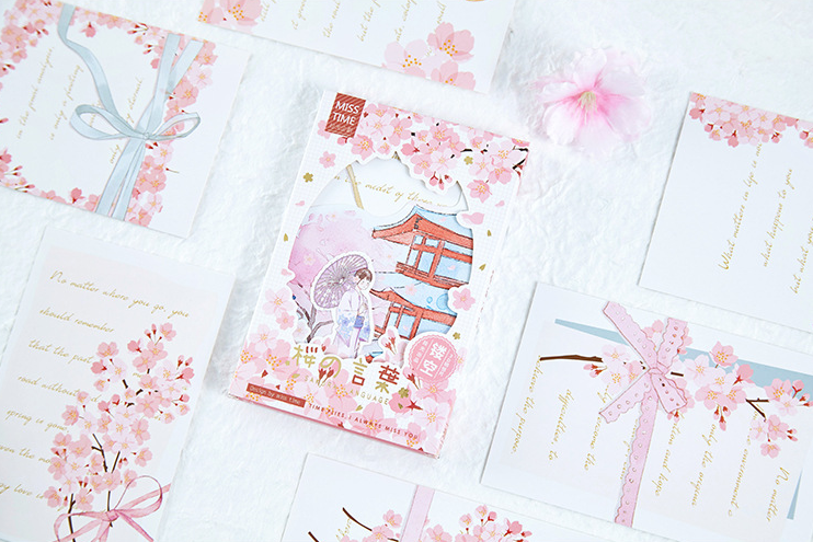 P116- Flower Sing Paper Postcard(1pack=30pieces)