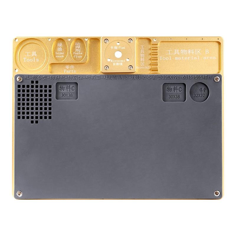 Aluminum Alloy Multi-function Microscope Base Workbench Electronic Mat Welding Blanket For Phone PCB Motherboard Repair Platform