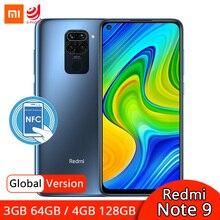 Global Version Xiaomi Redmi Note 9 3GB 64GB / 4GB 128GB NFC Smartphone Helio G85 Octa Core 48MP Quad Rear Camera 6.53
