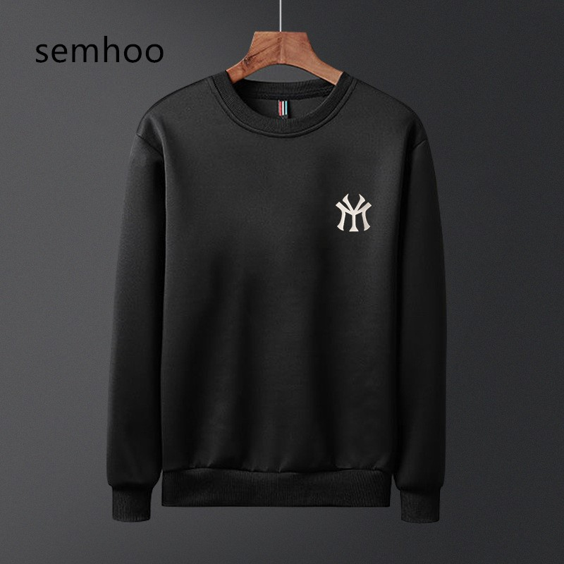 2020 Men's Sweatshirts Spring Autumn Fashion O Neck Long Sleeves Explosion Model Solid Color Casual Style