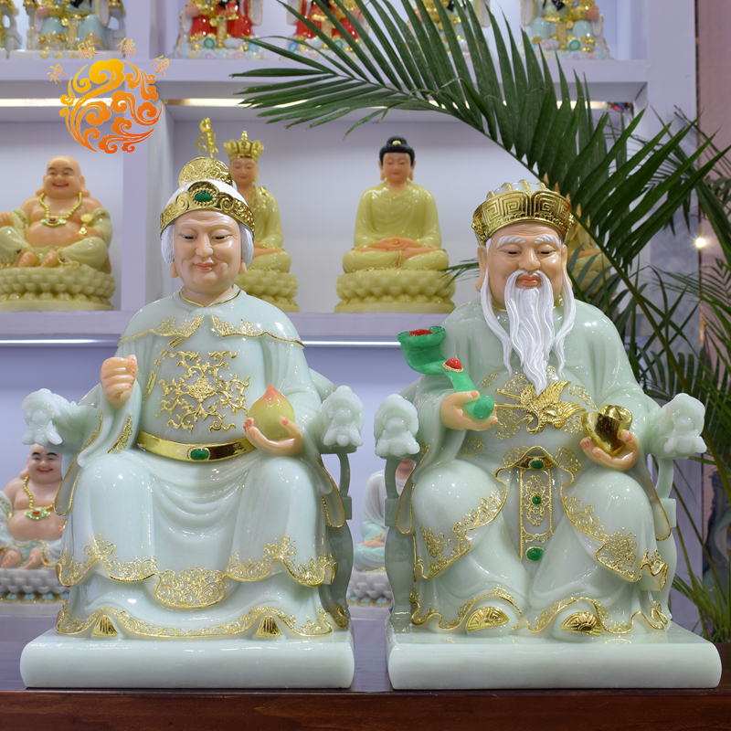 A Pair Asia Temple Worship HOME Efficacious Bring Wealth Luck