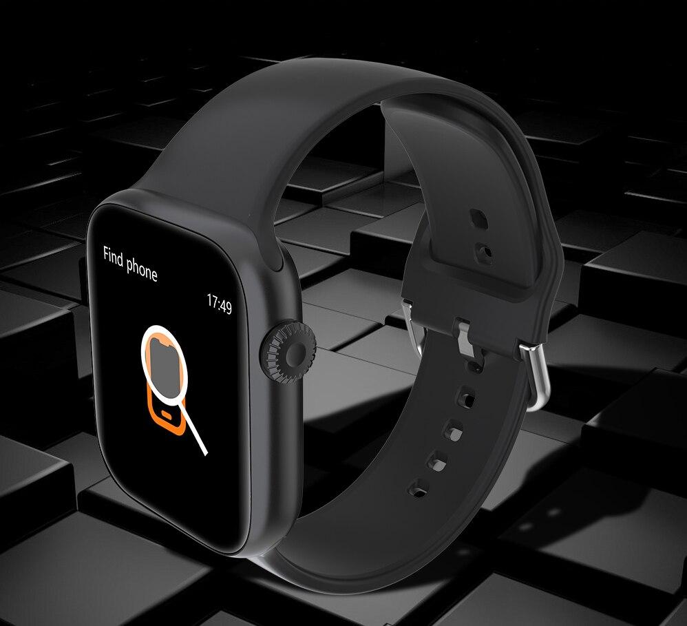 Hce18587babd449f4b69d8101c0e27afbK ECG Heart Rate Monitor Smart Watch 2020 Full Touch Screen SE03