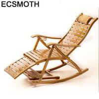 Poltrona moderna Butacas Y Plegable Sillon Reclináveis Cama Dobrável Cama De Balanço Sillones de Bambu Moderno Parágrafo Sala Lounge Chair