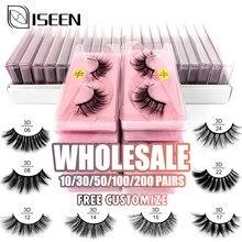 Atacado cílios 10/20/30/40/50 pçs 3d vison cílios naturais cílios macios maquiagem cílios extensão em massa livre personalizar
