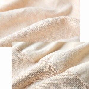 Image 5 - Вязаные топы с запахом, женский шерстяной кардиган, свитер с длинным рукавом, элегантный свитер с запахом