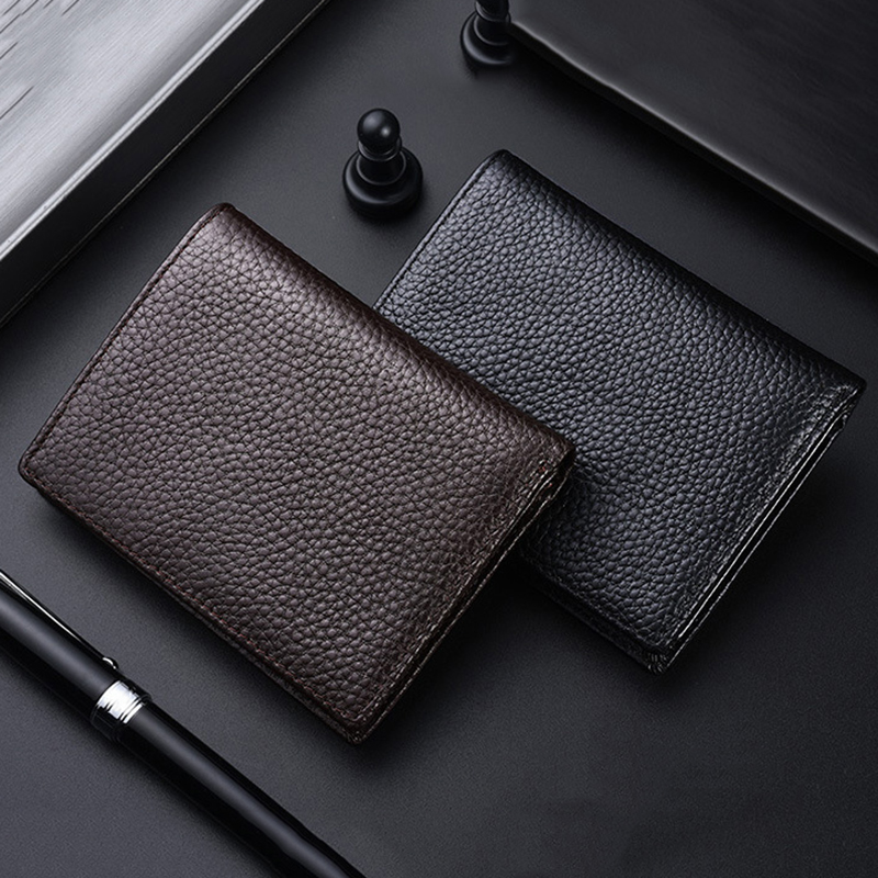 New men's short wallet first layer cowhide vertical wallets leather driving license bag driving license card set men's wallet