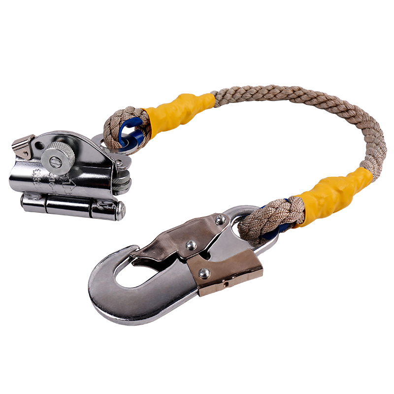 New 1 Set High Quality Safety Rope Self-Locking Device Nylon Rope Fall Protection Outdoors