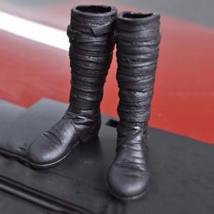 1/6 KUMIK S-20 черные кожаные ботинки F 12 ''Фигурки игрушки аксессуары