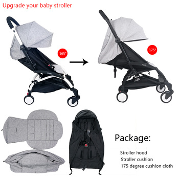3Pcs/set Stroller Cover And Cushion Oxfords Back Zipper Pocket Baby Stroller Accessories For Babyzen yoyo Yoya Babytime Stroller 1