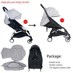 3 sztuk/zestaw pokrowiec na wózek i poduszka oksfordzie tylna kieszeń na suwak akcesoria dla wózków dziecięcych dla Babyzen yoyo Yoya Babytime wózek
