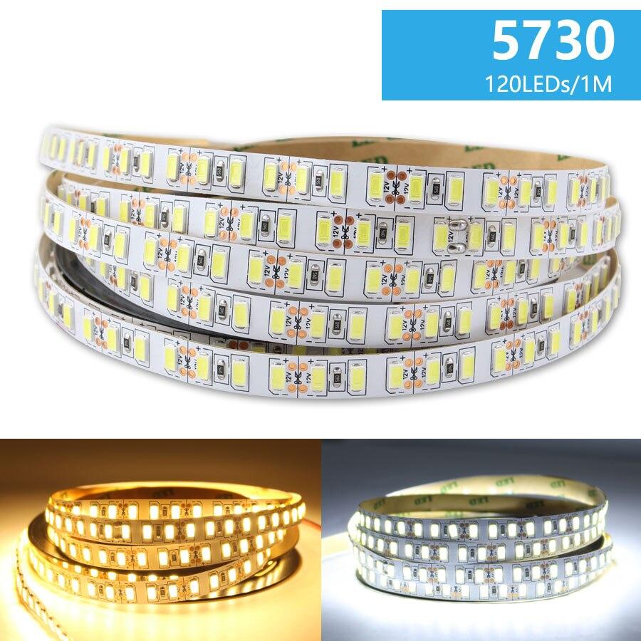 DC 12V LED Strip Light Lamp SMD 5730 White Warm White 6000K LEDStrip Tape 1M- 5M Waterproof Tape Light Led Strips Home Decor