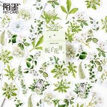 Jasmine papeteria naklejki kwiat roślina naklejki papierowe Gardenia samoprzylepna etykieta samoprzylepna Album dekoracyjny terminarz Scrapbooking