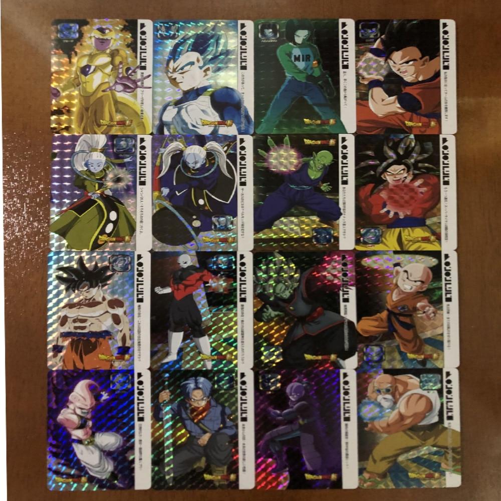 55pcs Super Dragon Ball Flash Card Limited Hero Battle Super Instinct Goku Vegeta Game Collection Anime Card in Game Collection Cards from Toys Hobbies