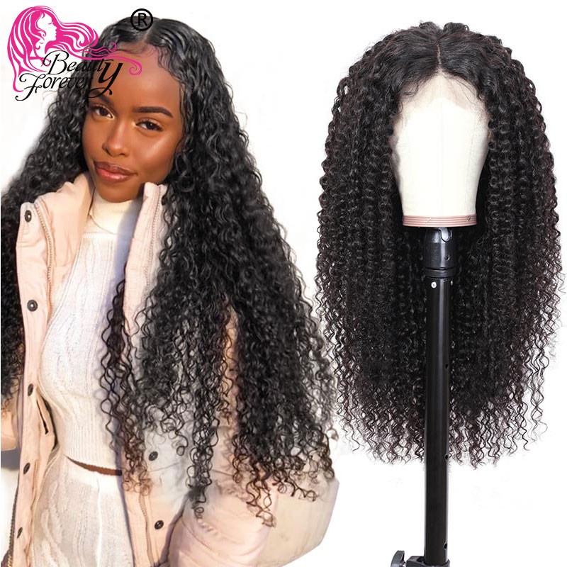BeautyForever Malaysian Curly Hair 13*6 Lace Front Wigs 100% Remy Human Hair Wig 150% Density Natural Color 10-24inch