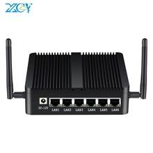 XCY Firewall Router Intel Celeron J1900 Mini PC Fanless Quad-Cores 6x Gigabit Ethernet Intel i211 NIC WiFi 3G 4G LTE Pfsense