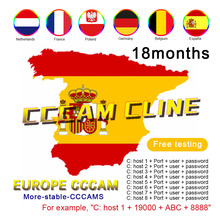 The latest one-year Cccam Cline is used in Europe Spain Portugal Italy Stable 7-line European cccam server for DVB-S2 satellite one night in spain