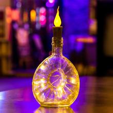 10PCS LED Holiday Light String Candle Flameless Wine Bottle Cork Fairy String Lights DIY Mini Flame Cork Light For Home Decor
