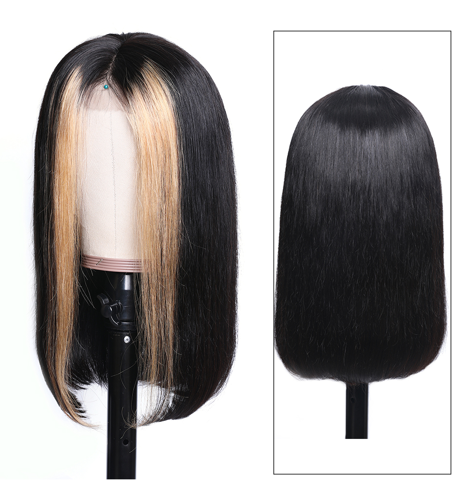 Hce1936ad465b4803a09734b27dc824eda Nadula Wig 13*4 Lace Front Wigs For Women Ombre Color With Highlight Human Hair Wig Brazilian Straight Lace Frontal Wigs