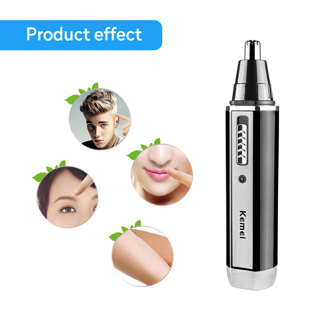 4 in 1 Rechargeable Men Electric Nose Ear Hair Trimmer Painless Women trimming sideburns eyebrows Beard hair clipper cut Shaver 3