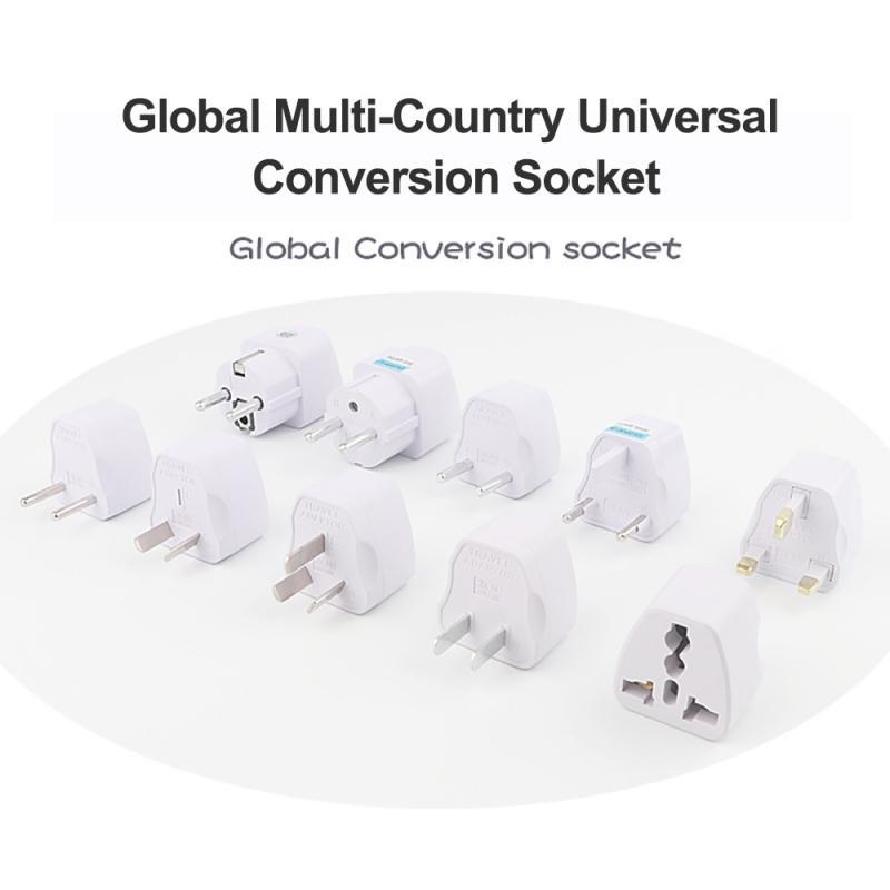 Глобальный Универсальный разноцветное Страна адаптер для путешествий Электрический штекер Мощность переходник АС ЕС, США, Великобритании ...