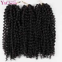 12 ''brésilien jerry curl faisceaux armure synthétique tressage cheveux avec Ombre Crochet tresses Extension de cheveux en vrac cheveux Kanekalon
