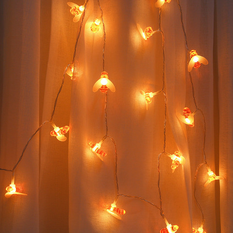 Window Curtain Bee Lights String House Party Decor Striking Lighting With 20 LED Beads DIY Holiday Lantern USB Powered Lahore
