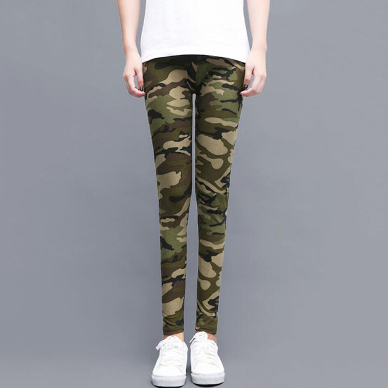 Fashion Printed Camouflage Leggings High Waist Army Women Pants Running Sports Camo Activewear Female Large Size Legging