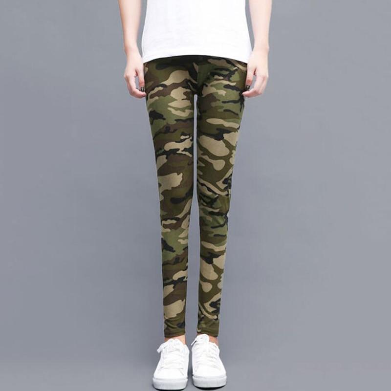 Fashion Printed Camouflage Leggings High Waist Army Women Pants Running Sports Camo Activewear Female Large Size Legging