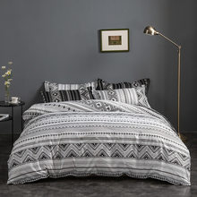 Bohemian Geometric Plaid Bedding Set Striped Nordic Simple Duvet Cover Set Bedclothes Home Bed Sheet Twin King Queen 220x240