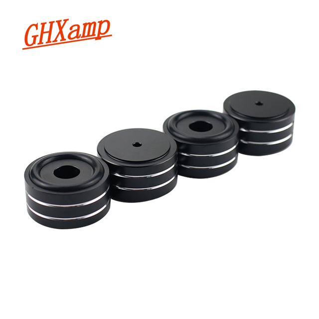 GHXAMP 4 шт. 40*20 мм настольный акустические шипы ламповый усилитель компакт диск DAC DVD плеер Полный алюминиевый ноготь ЧПУ высококачественный алюминий