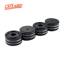 GHXAMP 4PCS 40*20MM Desktop Speaker Spikes Tube Amplifier DAC CD DVD player Full aluminum feet nail CNC High END Aluminum