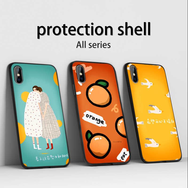 シリコーン Redmi 注 7 8 プロ漫画 orange ため xm xiomi Redmi Note4 カバー注 5A プライム電話ケース
