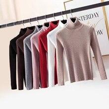Zoki Pullovers Women Turtleneck Sweaters Winter Warm Long Sl