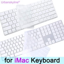 Keyboard Cover for iMac Magic A1314 A1644 A1843 A1243 Wireless Bluetooth Numeric Silicone EU US UK Protector Skin for Apple G6