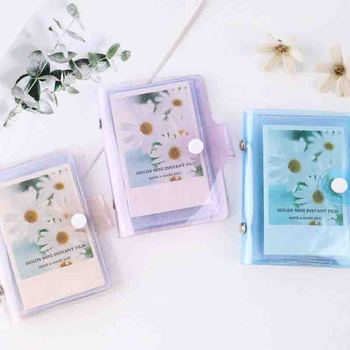 Mini Jelly Color Sequins Photo Album Holds 36 Photos Cute 3 inches Card Bag Photo Holder Fashion Lovely Ins New Photo Album image