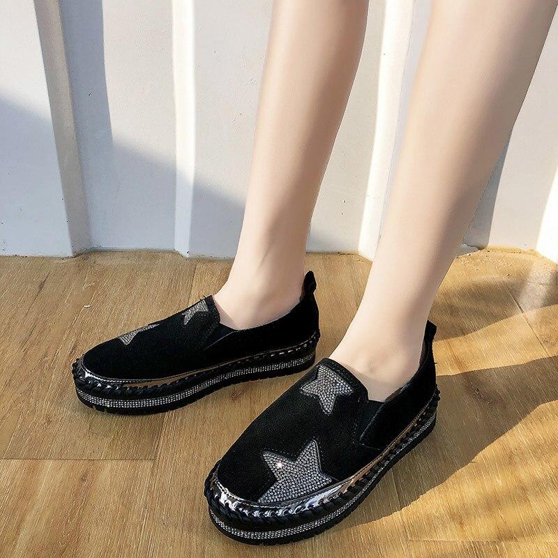 de caminhada plana suave zapatos de mujer