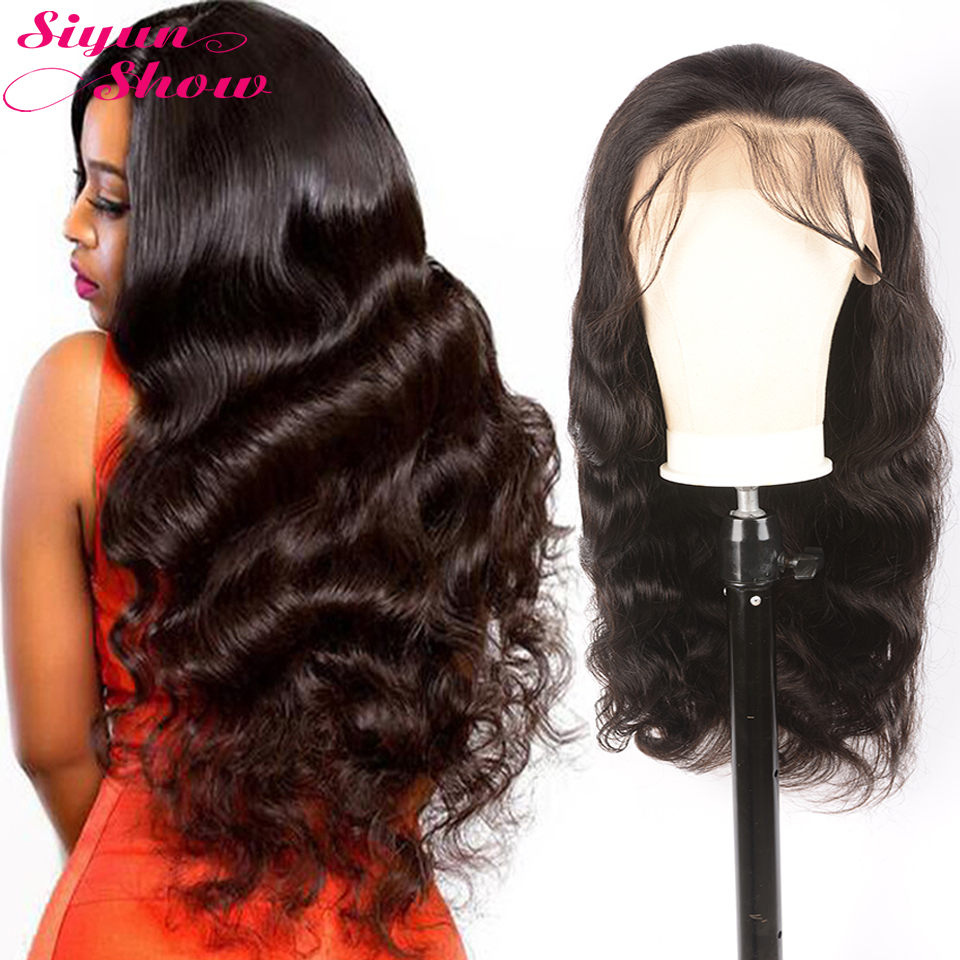 Siyun Show Body Wave Wig Lace Front Human Hair Wigs 150 180 Density Brazilian Body Wavy Wave Frontal Lace Wig With Baby Hair