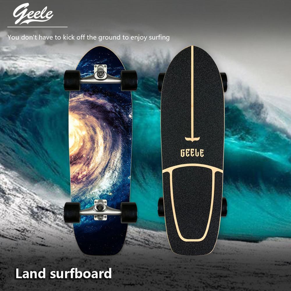 Доска для серфинга для начинающих, доска для серфинга, уличная щетка для упражнений, большой скейтборд для прогулок, Лонгборд, Пенни-борд дл...