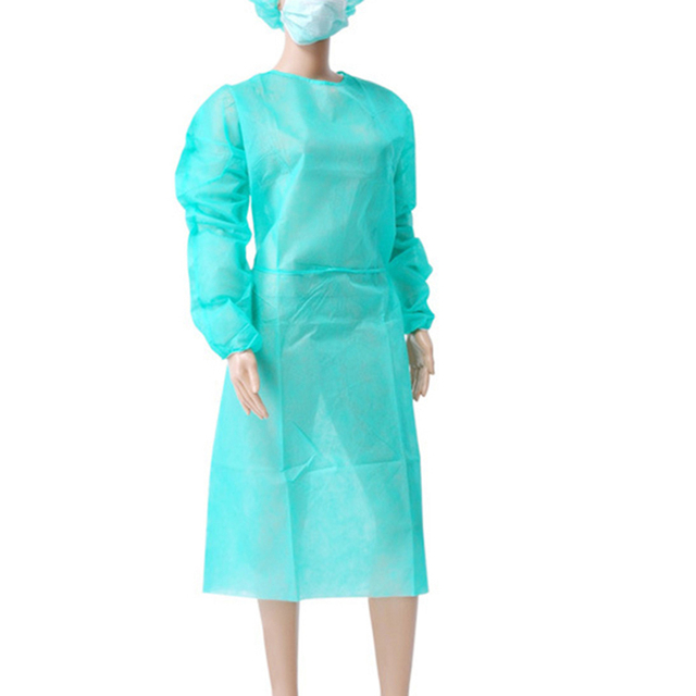 10PCS Portable Non-woven Security Protection Suit Comfortable Disposable Cover Up Isolation PPE Gown for Factory Laboratory 2